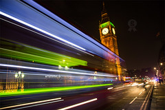 Big Ben. (arturii!) Tags: road street city longexposure trip travel england urban bus green london tower clock westminster beauty yellow night speed wow vanishingpoint amazing nice interesting movement holidays europe ship tour superb unitedkingdom awesome tripod great illumination bigben route londres stunning brightlights viatge enterprise vacations impressive gettyimages lighttrail diminishingperspective arturii arturdebattk canonoes6d