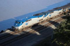 Amtrak 5 at Eckley (CaliforniaRailfan101 Photography) Tags: amtrak christie ge bnsf capitolcorridor franklincanyon emd californiazephyr burlingtonnorthernsantafe dash9 f59phi gevo amtrakcalifornia c449w bnsfrailway eckleypier eckleyca p42dc es44c4