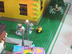 MOAH Winter Show 2014-2015 (93) (Where's Wall-E) (origamiguy1971) Tags: layout town lego mosaic spiderman trains superman batman palo alto ghostbusters moc walle moah baylug esseltine origamiguy origamiguy1971
