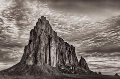 Same Shot in B & W (MyKeyC) Tags: b bw white black newmexico w navajoland shiprock