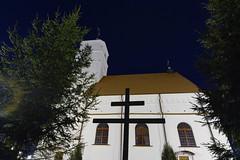 The Cross (free3yourmind) Tags: trees sky tree church night cross fir nightsky belarus zaslav