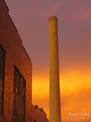 January 16, 2015 - An industrial strength sunrise in Denver. (Tony's Takes)