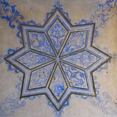 Ottoman Painted Star In A Divan In The Erbil Citadel, Kurdistan, Iraq (Eric Lafforgue) Tags: travel blue house color building history geometric archaeology architecture painting square photography design ancient asia paint day fort drawing geometry citadel interior iraq decoration middleeast nobody nopeople indoors colored inside tradition unescoworldheritage thepast iraqi erbil divan kurdistan multicolour arbil traditionalculture capitalcities traveldestinations hewler irbil northerniraq iraqikurdistan hawler colorpicture oldruin colourimage iraqiculture builtstructure residentialstructure ottomanperiod colourpicture middleeasternculture geometricalmotives middleseasternculture kurd1406765