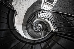 Downward Spiral (bluegreenorange) Tags: lighthouse stairs spiral unitedstates florida staircase spiralstaircase ponceinlet ponceinletlighthouse