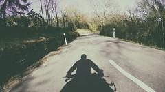 SP (mexou) Tags: road shadow portrait bike silhouette sp selfie