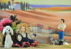 L'arte dell'incontro (_Gi_) Tags: dog fun toys countryside doll colours