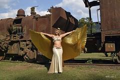 Cosplay (Maria Luiza S) Tags: yellow train cosplay amarelo trem paranapiacaba