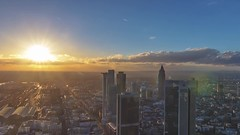 Frankfurt Skyline Sunset Timelapse (Fenchel & Janisch) Tags: sunset skyline sonnenuntergang frankfurt frankfurtammain maintower stockfootage frankfurtskyline