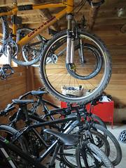bike shed (squeezemonkey) Tags: france bikes bicycles storeroom bunkhouse mountainbikes alauzon
