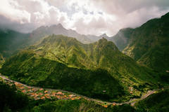Formed by Mother Nature (NIOphoto.) Tags: light mountain mountains green nature clouds landscape volcano islands scenery hiking hills shining madeira