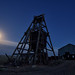 moonrise over the ohio mine. gold point, nv. 2016.