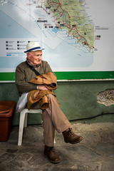 old friend (Frank Perrucci) Tags: old italy man waiting sad liguria