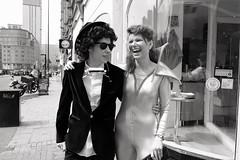 Dylan and Ziggy Stardust, Birmingham, UK (benpadley) Tags: blackandwhite music birmingham bobdylan dylan ziggystardust bowie fujiholics fujilove xt10 fujixseries fuji