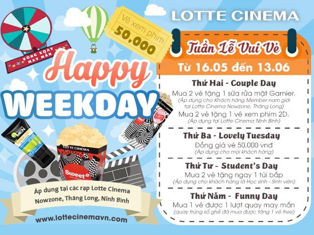 Tặng vé xem phim và nhiều quà tặng hấp dẫn tại Lotte Cinema