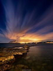 Cap Blanc (joaquinain) Tags: sea seascape clouds marina mar rocks long exposure mediterranean nightly voigtlander paisaje olympus nubes nocturnas rocas mediterrneo omd larga em1 exposicin