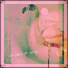 Alice's flamingo lawn party (eepeirson) Tags: ontario canada mallet alicesadventuresinwonderland brucepeninsula croquet lakehuron tobermory pinkflamingos lawnparty txeeppixlr