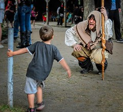 No, He's Not Scary... (Wes Iversen) Tags: costumes people men boys wisconsin kids characters bristolrenaissancefaire kenosha nikkor18300mm