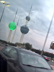 kuwait towers  in green   (wadypalace) Tags: green towers kuwait