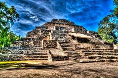 Mexique-97 (lelou66) Tags: hdr mexique mexic maya mayans ruines chacchoben pyramide hdrenfrancais