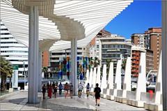 Paseo del Muelle Dos, Malaga, Andalucia, Espana (claude lina) Tags: claudelina espana spain espagne andalucia andalousie malaga architecture paseo paseodelmuelledos
