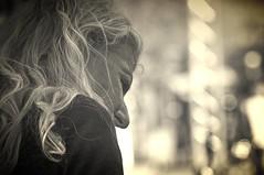 biondo e nero (eliobuscemi) Tags: faccia seppia volto profilo espressione
