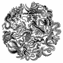 Petri Dish 2 (Don Moyer) Tags: ink drawing creature moyer brushpen petridish donmoyer