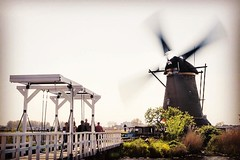 Historical Windmill in Kinderdijk Netherlands. (MRFotografie) Tags: traveling vacation travel bridge history old historical worldheritage unesco kinderdijk europe holland netherlands windmill