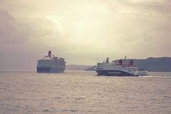 Friends at sea (CraigAllanPhotography) Tags: friends sea skye scotland ships minch queenelizabeth seaforth ferrys shipspassing calmaccaledonianmacbrayne