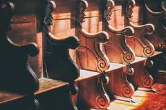 My view ..Lets sit and pray In These church bench's .. In So Miguel Azores, Ponta Delgada city.. (miguel.santos.1029) Tags: light church shadows pray highlights igreja bancos matriz azores pontadelgada churchbenchs