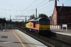 "Colas Rail Class 60, 60085 (37190 ""Dalzell"") Tags: colasrail orangeyellowblack brush type5 doughnut tug class60 60085 northwestern wigan"