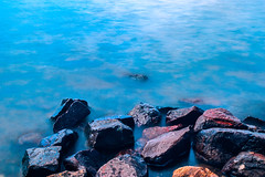 Loch Rocks (Ross Dorran) Tags: longexposure blue water walking rocks outdoor loch lochlomond
