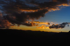 The Sunset Sky (faungg's photos) Tags: travel sunset sky usa west nature weather clouds landscape us nationalpark colorado western co rockymountain