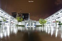Saat PENS tergenang banjir (Ifal saja) Tags: rain night canon indonesia flooding fisheye 8mm samyang 700d eepis