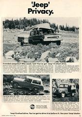 1968 Jeep Wagoneer - Commando - Universal Advertisement Sports Afield March 1968 (SenseiAlan) Tags: sports march jeep advertisement universal 1968 commando wagoneer afield