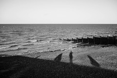 Us (Dan Chippendale) Tags: blackandwhite beach coast kent fuji shadows fujifilm whitstable xf 2015 27mm xt1 january2012 fujifilmxf27mm fujifilmxt1 fujixt1