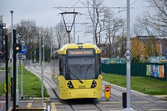 Moor Road. Manchester Airport Line. Manchester Metrolink. (Fred Collins afloat and ashore) Tags: road manchester airport tram line lightrail moor metrolink tramway bombardier lrv m5000