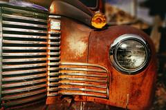 Junkyard Classic (boblarsonphoto1) Tags: arizona classic abandoned car junk rust automobile grill transportation jerome headlight junkyard boblarson