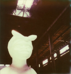 sugar sphinx (lawatt) Tags: sculpture film brooklyn factory sugar instant domino slr680 karawalker theimpossibleproject color600