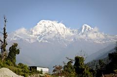 Nepal - Annapurna South and Hiunchuli (Agnieszka Eile) Tags: nepal mountains nature trekking trek asia village view himalaya annapurna annapurnasouth hiunchuli annapurnasanctuary