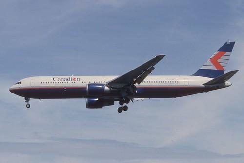 Canadian Airlines Boeing 767-300; C-FCAU, August 1991