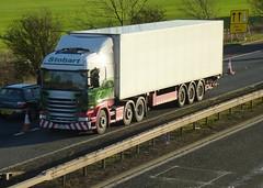 H2069 - PE64 EUP (Cammies Transport Photography) Tags: truck amazon pixie lorry eddie flyover scania dunfermline esl eup laine m90 stobart eddiestobart r450 h2069 pe64 pe64eup