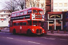 RM198 (VLT198) old bodied Routemaster seen on Route 28 in Elgin Avenue (southall.routemaster) Tags: london routemaster maidavale rm aec route28 rm198