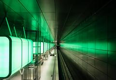 Green (katrin glaesmann) Tags: metro hamburg tube ubahn hvv u4 hafencityuniversitt photowalkmitmichi unterwegsmitmichi