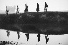 IMG_7803 (emon chowdhury.) Tags: winter blackandwhite reflection water canon village bangladesh srimongal canon55250mm canon550d