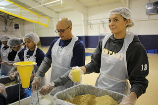 Feed the Need - 2014 Food Packaging Event - University of Saint Mary