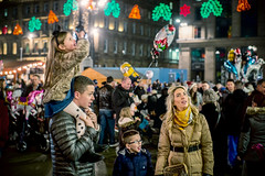 Christmas Joy (mickyates) Tags: street leica november 50mm scotland bokeh glasgow candid f10 m mp noctilux meet 240 2014