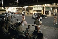 SAIGON 1961 - Ngã tư Tự Do-Nguyễn Văn Thinh. Photo by Wilbur E. Garrett (manhhai) Tags: color adult group vietnam chi minh adult|mid image|day|outdoors|photography|vietnam|south ethnicity|vietnamese clothing|ao vietnam|ho city|saigon|large people|adult|women|teenager|teenage boy|mid men|vietnamese culture|pedestrians|street scenes|traditional dai|flirting|hucksters|horizontal