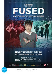 FUSED _ Poster Design (SteMurray) Tags: show ireland irish game dan project poster photography anne design lucy ross video theatre centre arts retro adventure barry eddie morgan publicity gill murray ste murphy controlled camile fused bergin