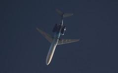 OH-BLI (Rob390029) Tags: blue sky 1 flying high top aircraft aviation transport flight over jet civil transportation passenger boeing airborne 717 ott civilian b717 overflight ohbli