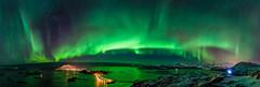 Panorama Aurora! (mirrormatch) Tags: ocean sea coast northernlights auroraborealis hav kyst nordlys kvalya sommary hillesy yttersia rnfly